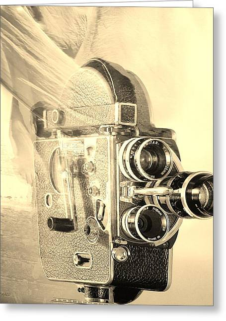 Over-exposed Greeting Cards - SCARF CAMERA in SEPIA Greeting Card by Rob Hans