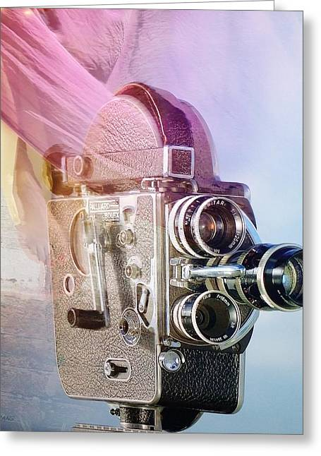 Over-exposed Greeting Cards - Scarf Camera Greeting Card by Rob Hans