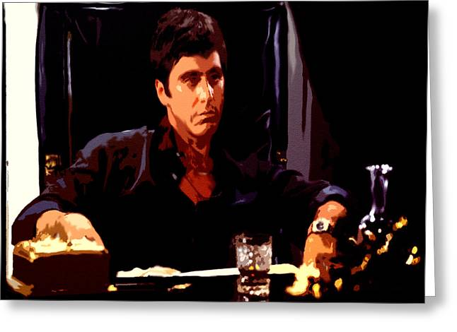 Cuban Refugee Greeting Cards - Scarface II Greeting Card by Brian Reaves