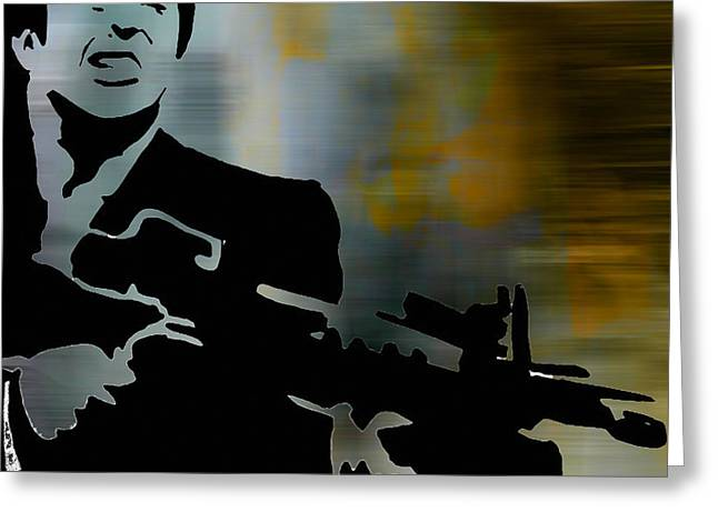 Den Greeting Cards - Scarface Greeting Card by Marvin Blaine