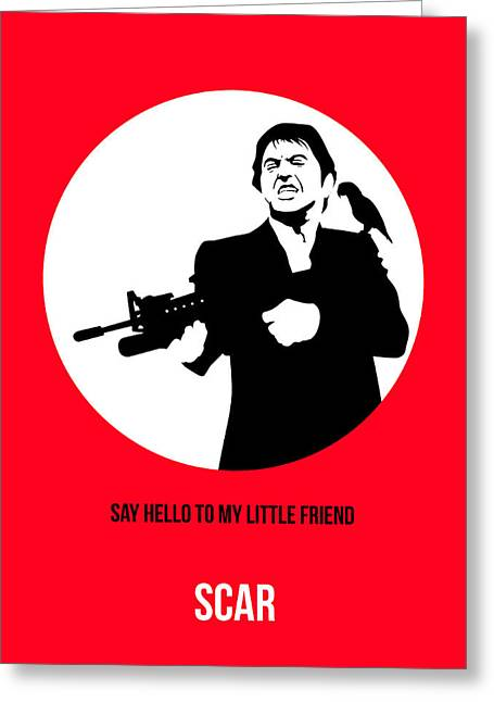 Tony Montana Greeting Cards - Scarface Poster 2 Greeting Card by Naxart Studio
