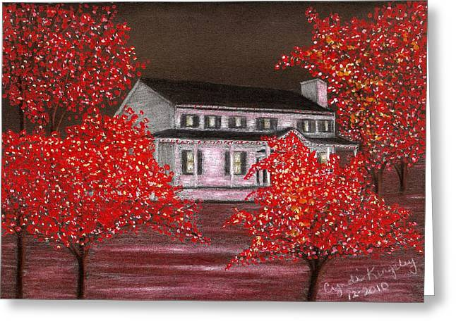 Cyndi Kingsley Greeting Cards - Scarlet Christmas Greeting Card by Cyndi Kingsley