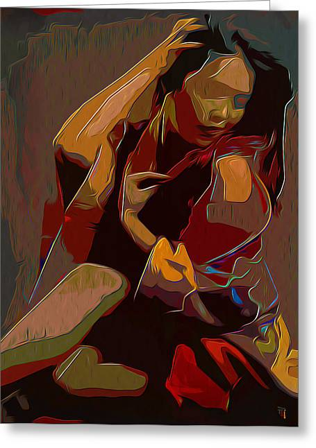 Royalty Digital Art Greeting Cards - Scarlet Greeting Card by  Fli Art