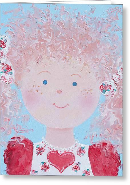 Babys Greeting Cards - Scarlet Greeting Card by Jan Matson