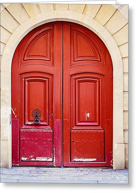 Red Doors Greeting Cards - Scarlet Greeting Card by Melanie Alexandra Price