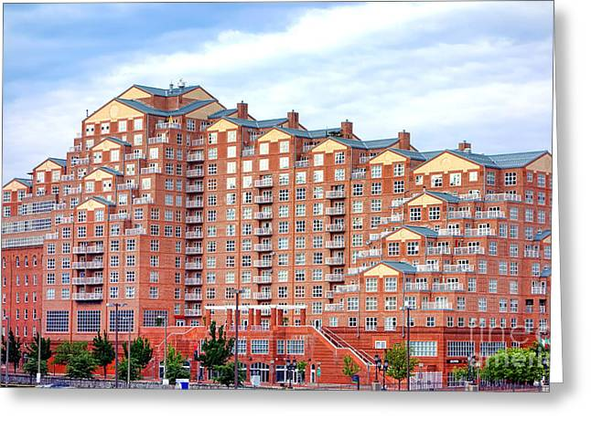 Rentals Greeting Cards - Scarlett Place Baltimore Greeting Card by Olivier Le Queinec