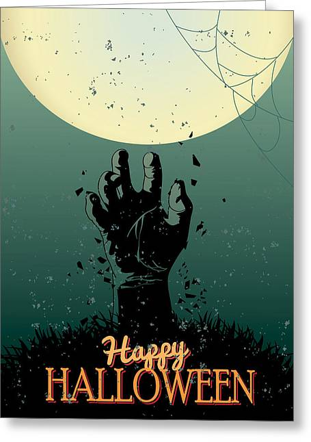 Ghost Hand Greeting Cards - Scary Halloween Greeting Card by Gianfranco Weiss