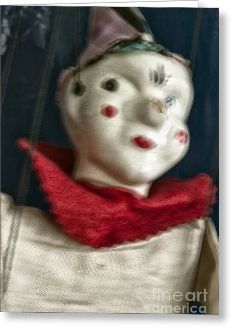 Marionette Greeting Cards - Scary Mary Greeting Card by Margie Hurwich