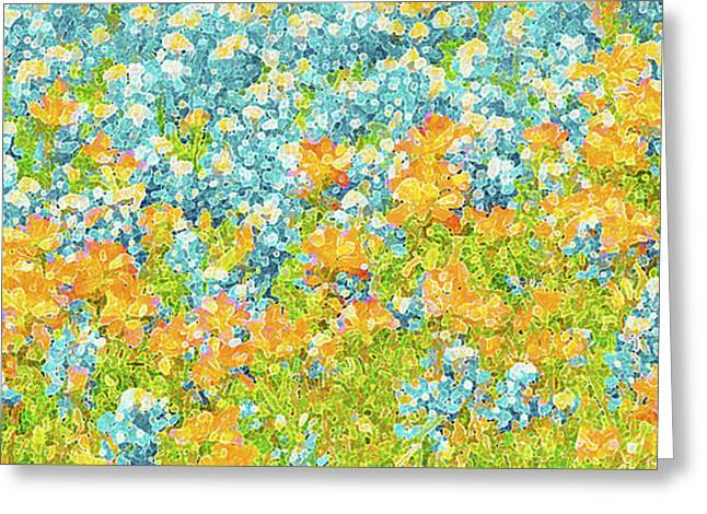 Scattered Impressions Bold Wildflowers  Greeting Card by ARTography by Pamela Smale Williams