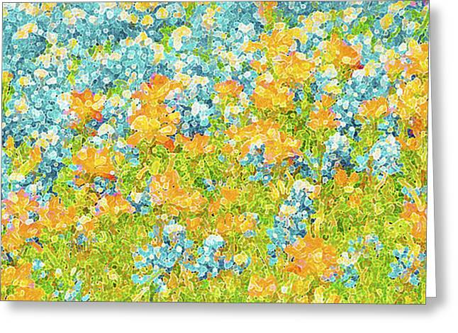 Tangerines Greeting Cards - Scattered Impressions Greeting Card by ARTography by Pamela  Smale Williams