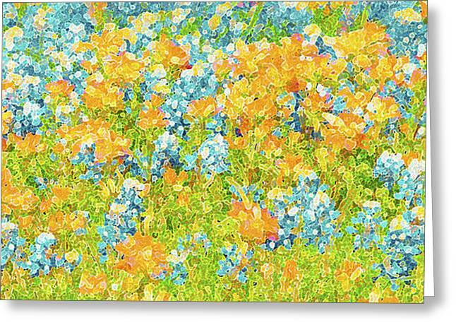 Van Gogh Style Greeting Cards - Scattered Impressions Greeting Card by ARTography by Pamela  Smale Williams