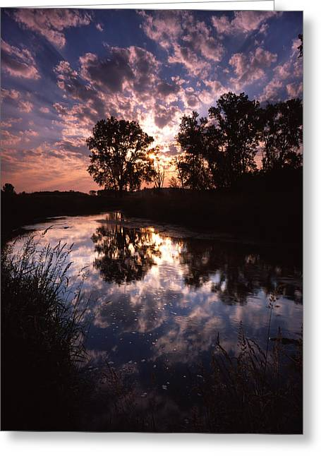 Hack-ma-tack National Wildlife Refuge Greeting Cards - Scattered Sunrise Greeting Card by Ray Mathis