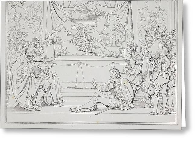 Scene From The Play Hamlet Greeting Card by British Library