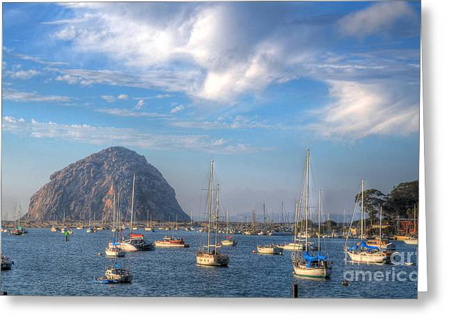 Morro Bay Ca Greeting Cards - Scene on the Bay Greeting Card by Matthew Hesser
