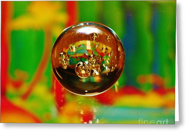 Paperweight Greeting Cards - Scene Thru a Paperweight Greeting Card by Craig Wood