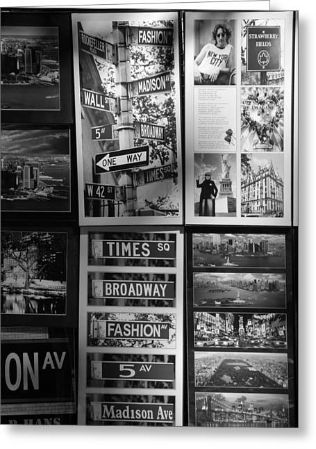 5th Ave Greeting Cards - SCENES OF NEW YORK in BLACK AND WHITE Greeting Card by Rob Hans