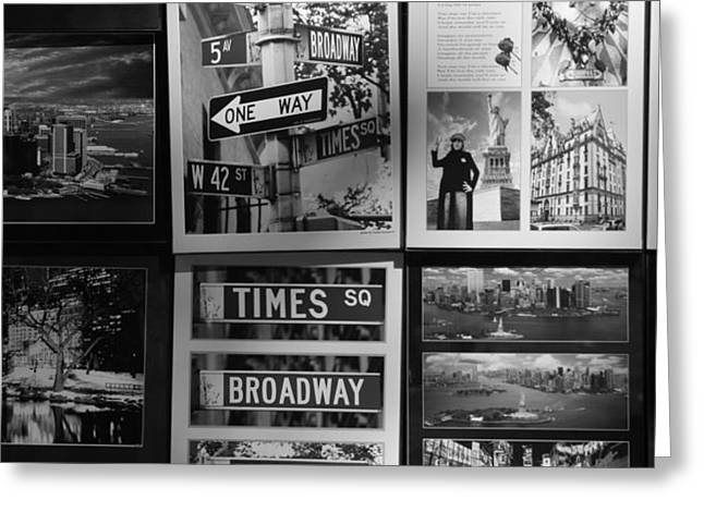 SCENES OF NEW YORK in BLACK AND WHITE Greeting Card by ROB HANS