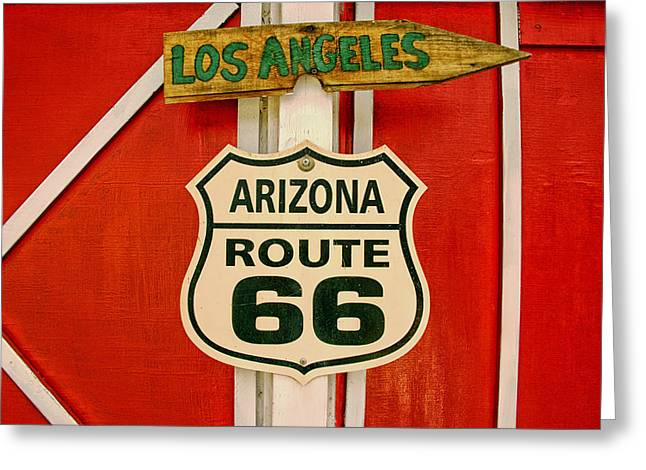 Nostalgic Sign Greeting Cards - Scenes on Route 66 Greeting Card by Mountain Dreams