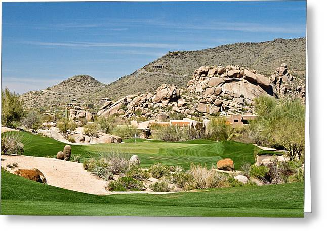 Scenic Approach Greeting Card by Scott Pellegrin