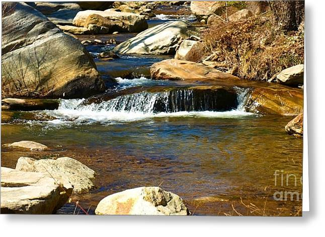 Chimney Rock North Carolina Greeting Cards - Scenic Broad River Greeting Card by Candy Frangella