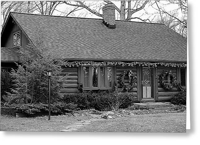 Old Cabins Greeting Cards - Scenic Cabin Greeting Card by Frozen in Time Fine Art Photography