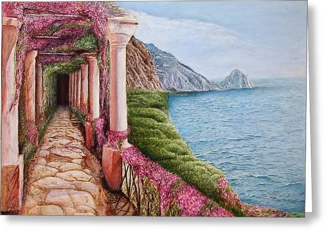 Scenic Capri Greeting Card by Greg  Alexander