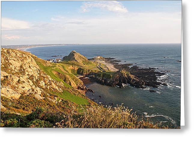 Gills Rock Greeting Cards - Scenic Coastline At Corbiere Greeting Card by Gill Billington