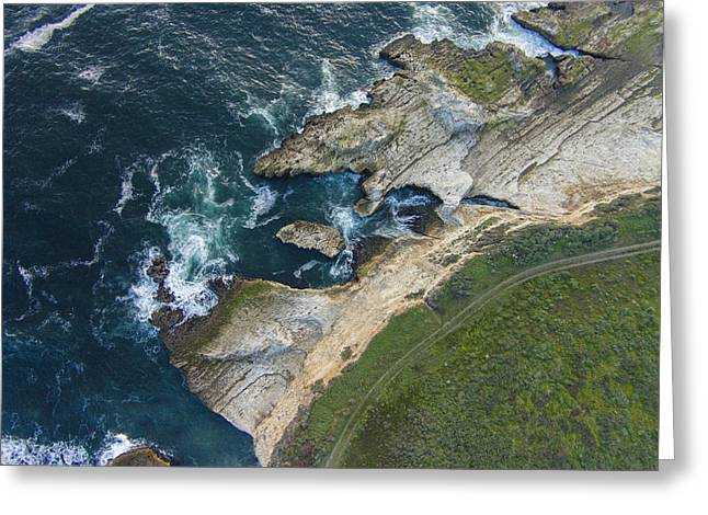 Scenic Edge Of California Greeting Card by David Levy