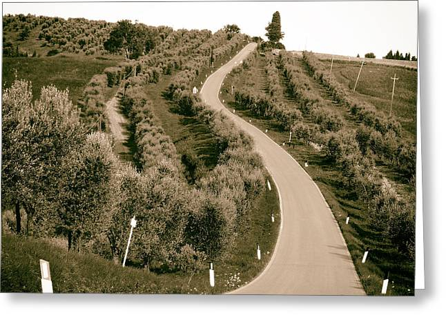 Road Travel Greeting Cards - Scenic Italian Drive Greeting Card by Mountain Dreams