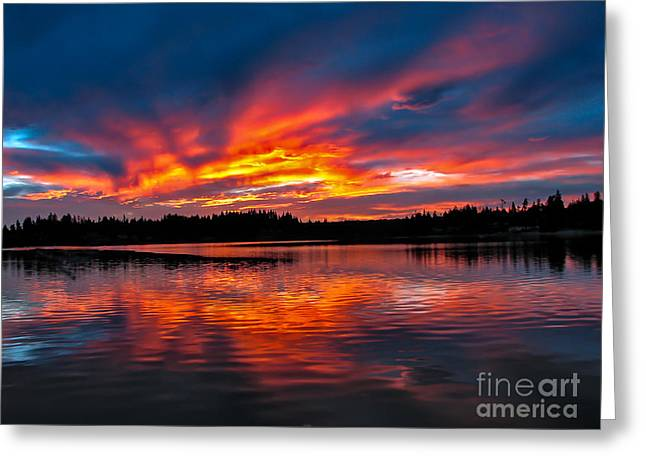 Haybale Greeting Cards - Scenic Marine Sunrise Greeting Card by Robert Bales