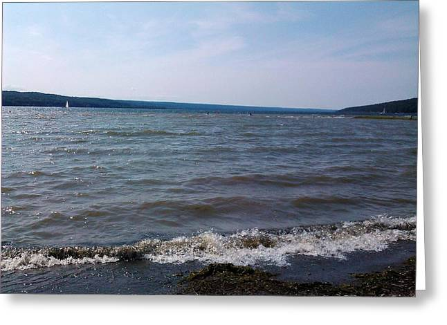 York Beach Pastels Greeting Cards - Scenic Meyers Lake Greeting Card by Jo-Ann Hayden