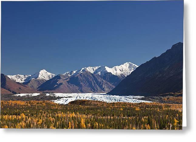 Matanuska Greeting Cards - Scenic Of Matanuska Glacier And Chugach Greeting Card by Kevin Smith