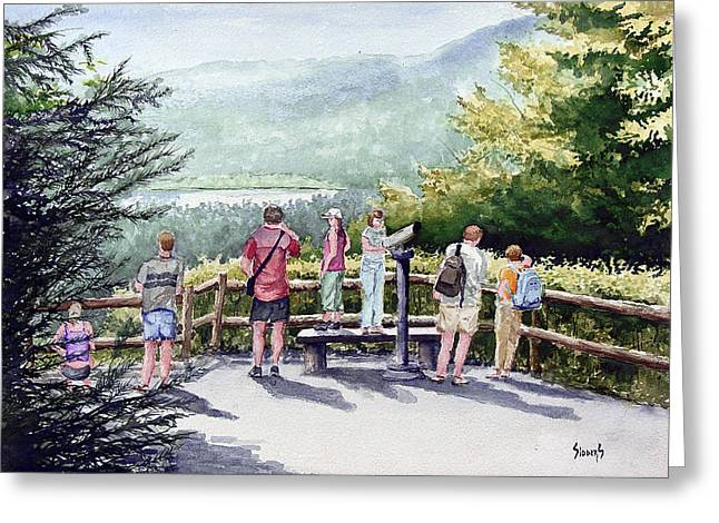 Scenic Overlook Greeting Card by Sam Sidders