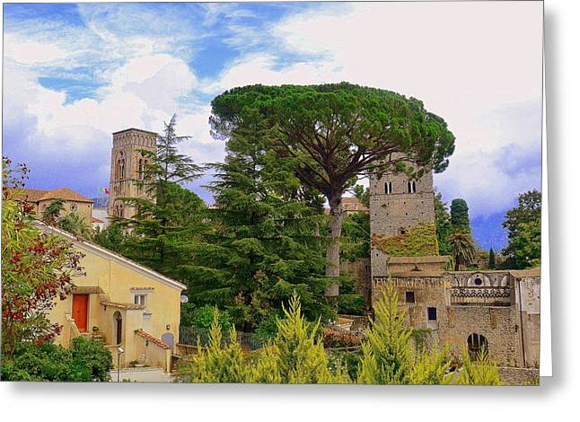 Southern Province Greeting Cards - Scenic Ravello Greeting Card by Toni Abdnour