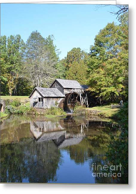 Grist Mill Greeting Cards - Scenic Reflections Greeting Card by Kathleen Struckle