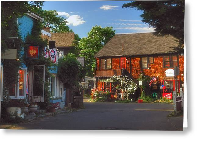 Rockport Ma Greeting Cards - Scenic Rockport Greeting Card by Joann Vitali