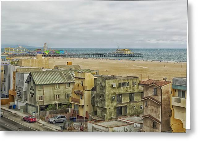 Hdr Look Greeting Cards - Scenic Santa Monica California Greeting Card by Mountain Dreams
