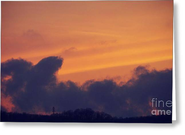 Clique Greeting Cards - Scenic Sunset Greeting Card by Charlie Cliques