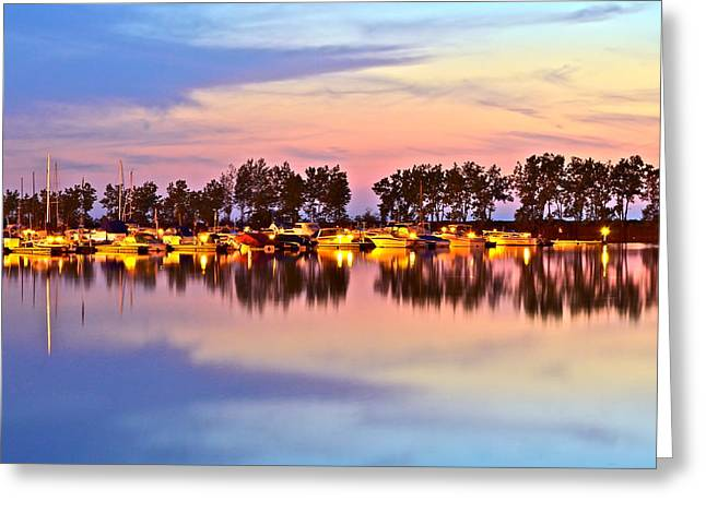 Amazing Sunset Greeting Cards - Scenic Sunset Greeting Card by Frozen in Time Fine Art Photography