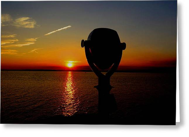 Scenic Sunset Greeting Card by Stephen Melcher