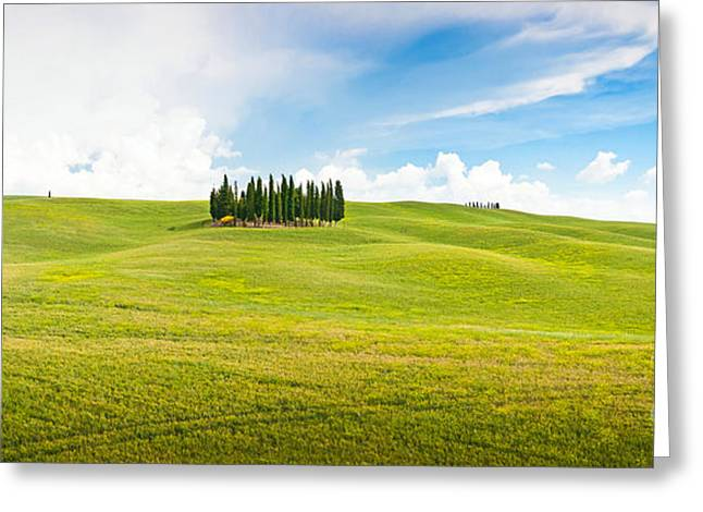 Chianti Hills Photographs Greeting Cards - Scenic Tuscany Greeting Card by JR Photography