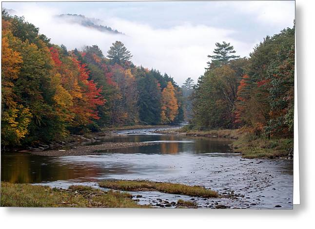Quite Greeting Cards - Scenic Vermont River and Autumn Landscape Greeting Card by Juergen Roth