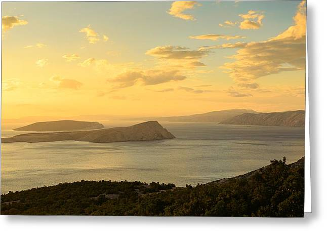 View Pyrography Greeting Cards - Scenic view of a small island Greeting Card by Oliver Sved