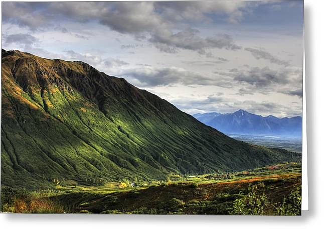 Hdr Landscape Greeting Cards - Scenic View Of Hatcher Pass In Greeting Card by Michael Criss