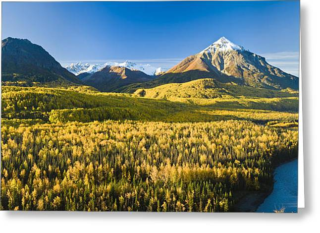 Matanuska Greeting Cards - Scenic View Of King Mountain And The Greeting Card by Michael DeYoung