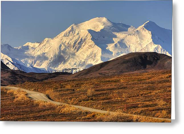 Northside Greeting Cards - Scenic View Of Mt. Mckinley And Greeting Card by Michael Criss