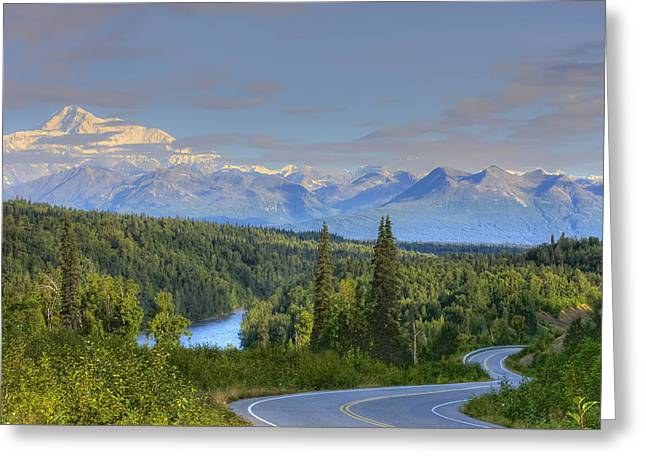 Hdr Landscape Greeting Cards - Scenic View Of Mt. Mckinley And The Greeting Card by Michael Criss