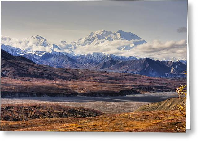 Hdr Landscape Greeting Cards - Scenic View Of Mt. Mckinley With Greeting Card by Michael Criss