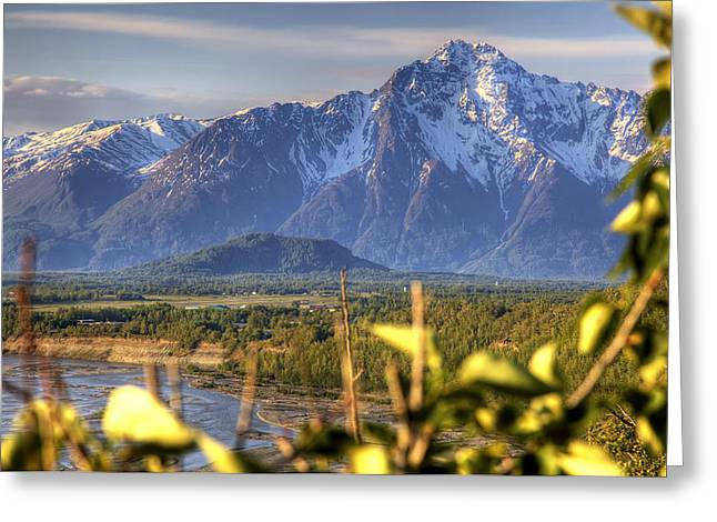 Pioneer Park Greeting Cards - Scenic View Of Pioneer Peak Near Greeting Card by Michael Criss