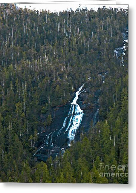 Queen Charlotte Strait Greeting Cards - Scenic Waterfall Greeting Card by Robert Bales